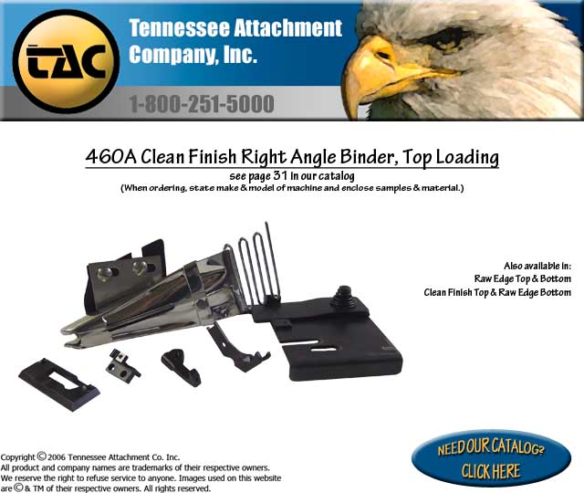460A Clean Finish Right Angle Binder, Top Loading