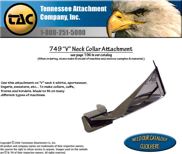 "749 ""V"" Neck Collar Attachment"