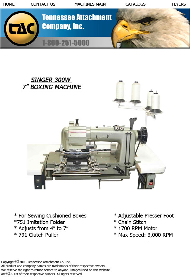 "SINGER 300W 7"" BOXING MACHINE"
